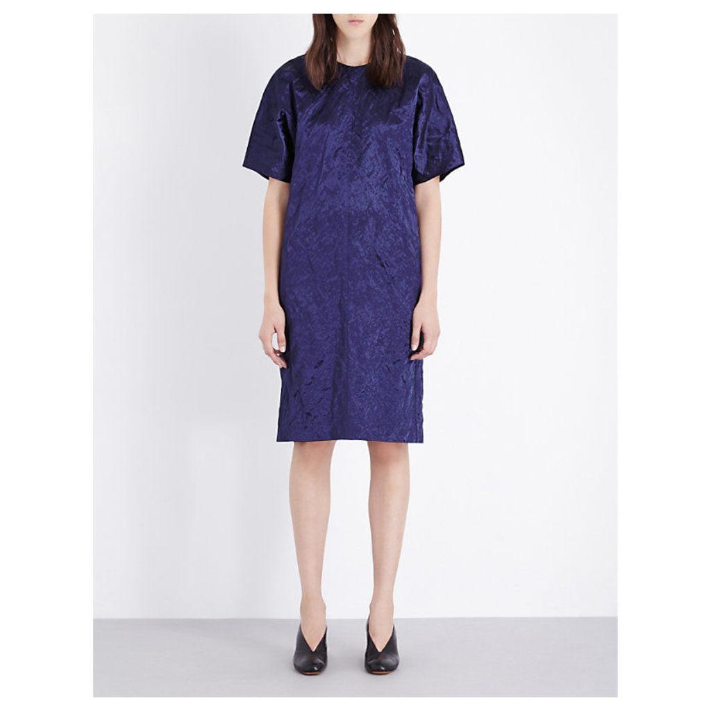 JIL SANDER Centrum cotton-blend dress, Women's, Size: 10, Blue