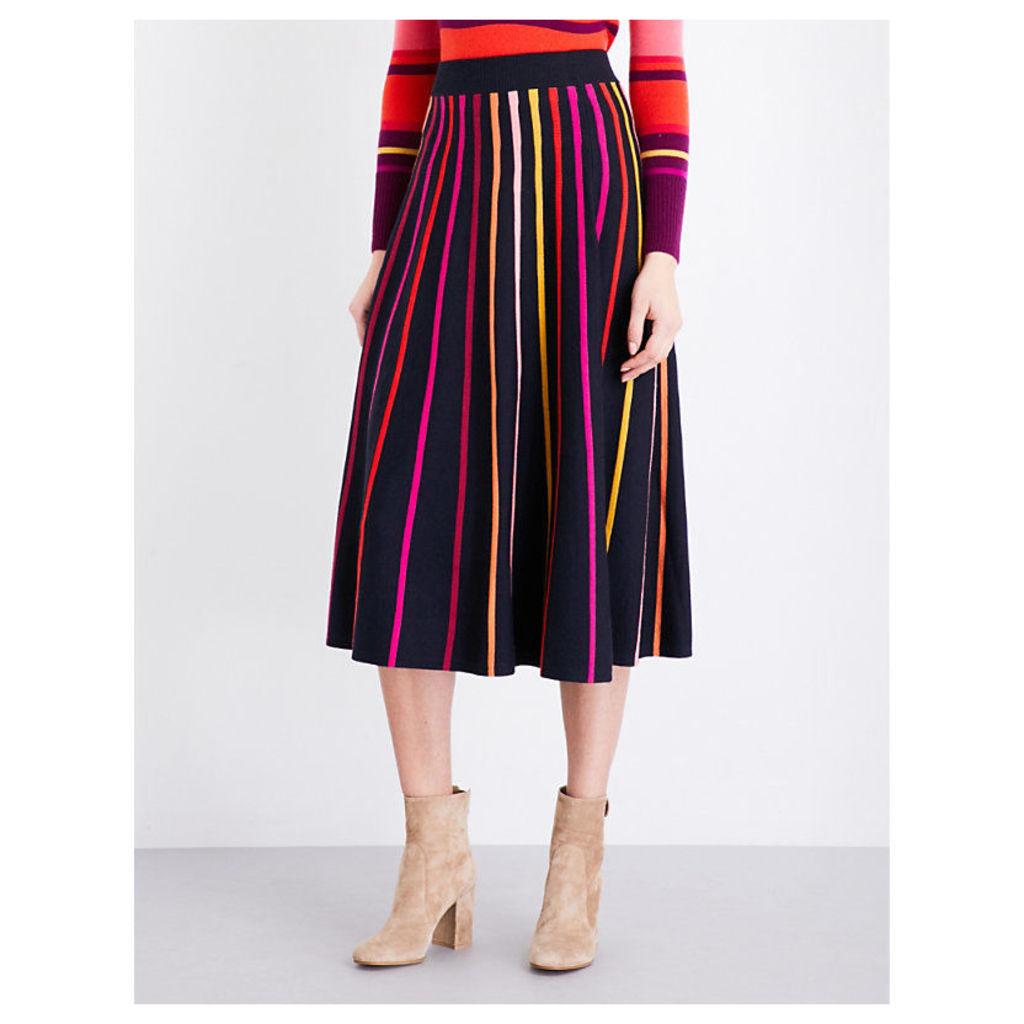 TEMPERLEY LONDON Pano merino wool skirt, Women's, Size: 10, French Navy
