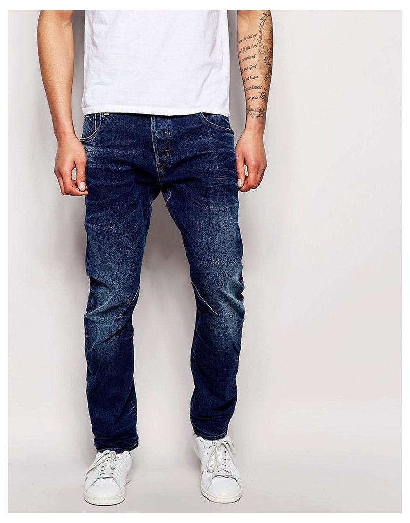 G-Star Jeans Arc 3D Slim Fit Medium Aged - Bl1 - blue 1