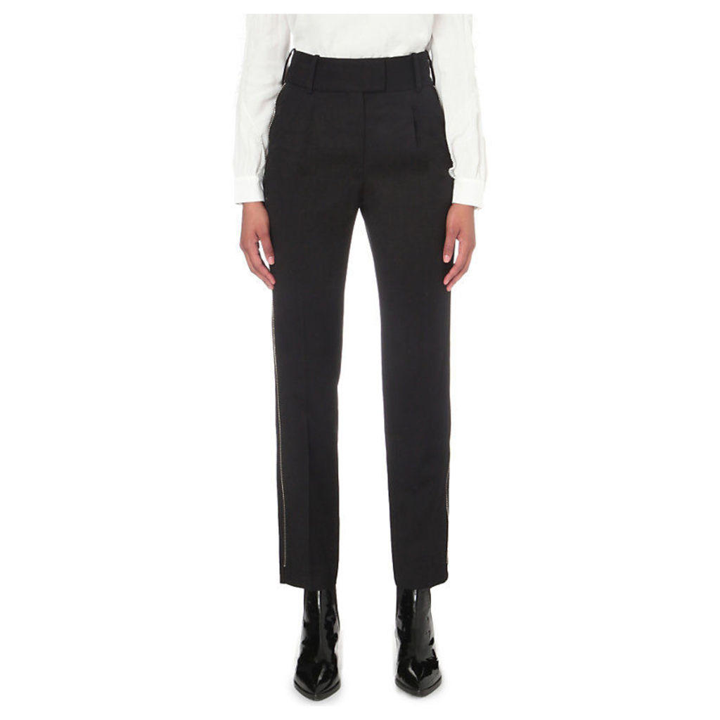 MAJE Parison wool trousers, Women's, Size: 8, Black