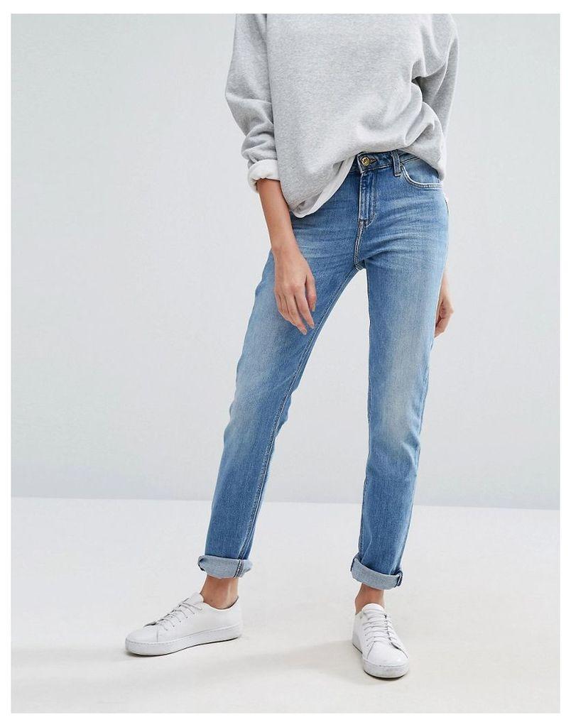 Lee Elly Slim Straight Mid Rise Jeans - Light shadow