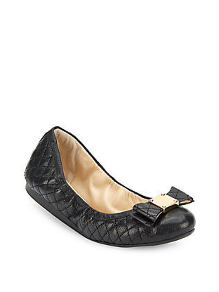 Tali Bow Quilted Bow Ballet Flats