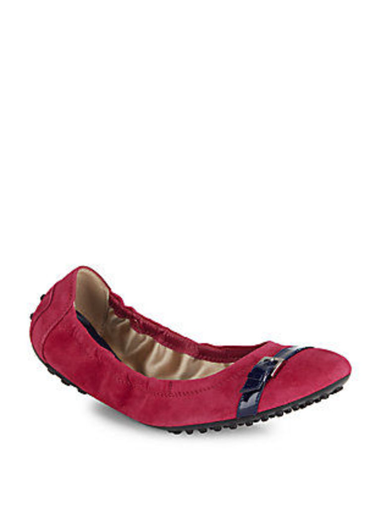 Round-Toe Leather Ballet Flats