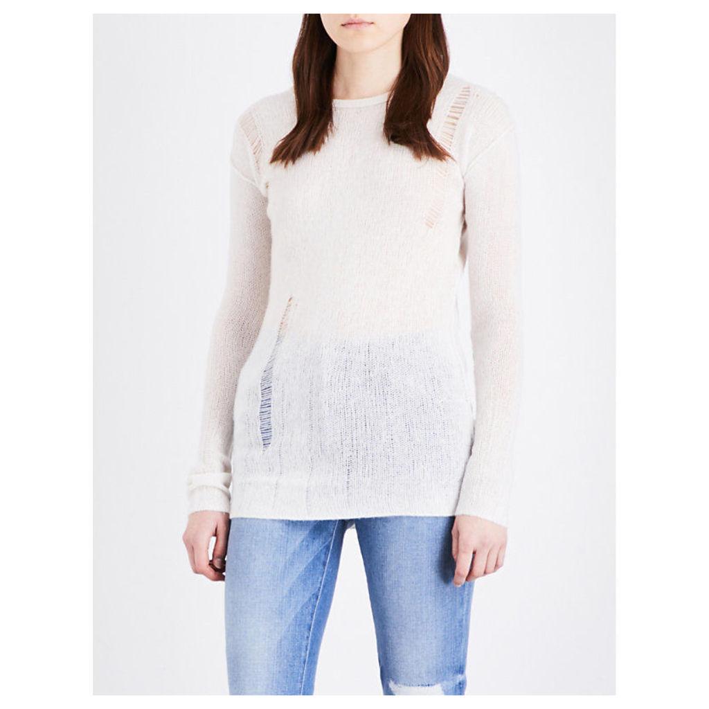 NSF Kravitz wool and cashmere-blend jumper, Women's, Size: XS, Linen