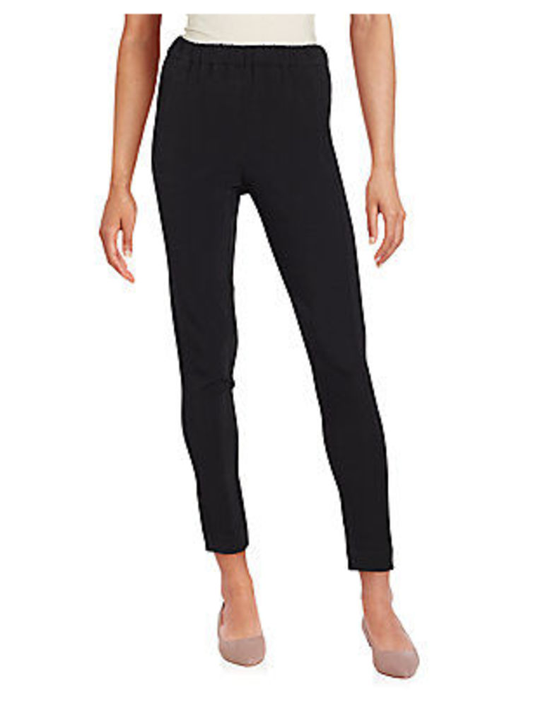 Thorene Solid Ankle-Length Pants
