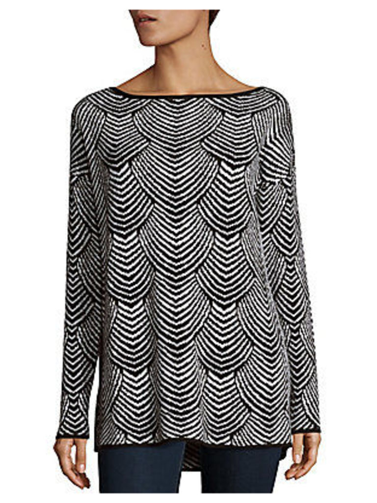 Scallop Patterned Boatneck Top