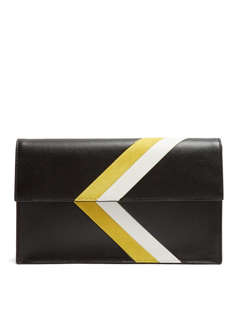 Gordon leather clutch