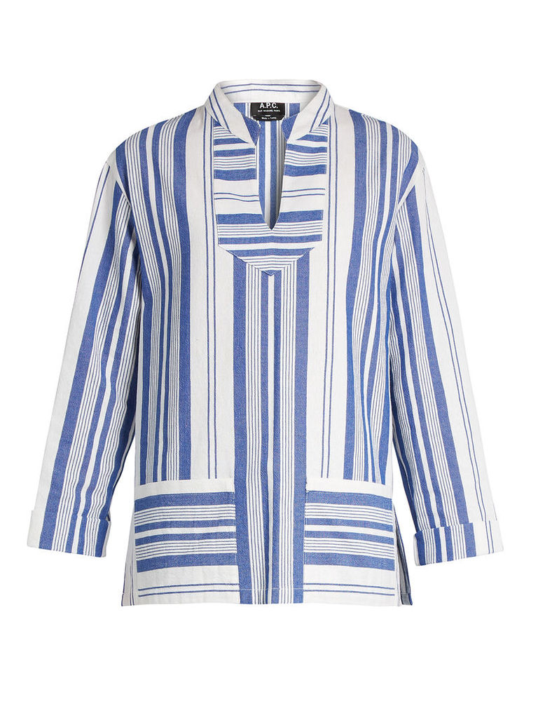 Tinos striped cotton top