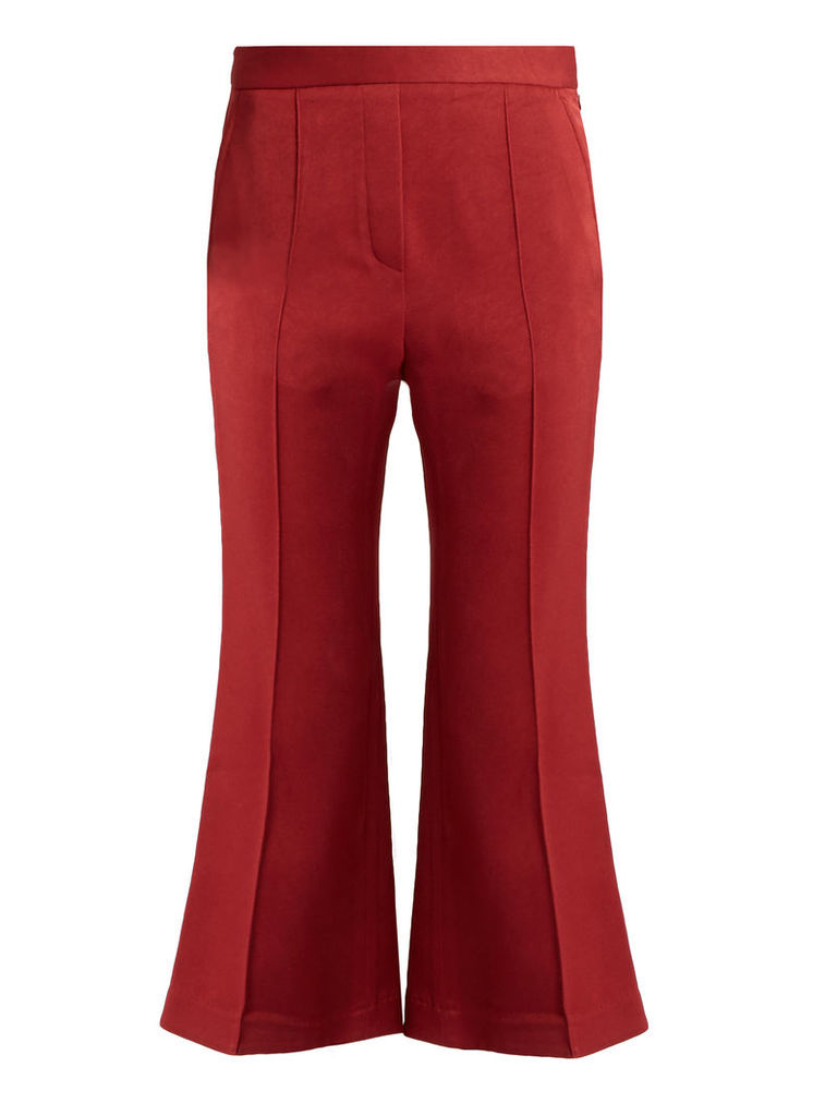 Bulgaria flared cady trousers