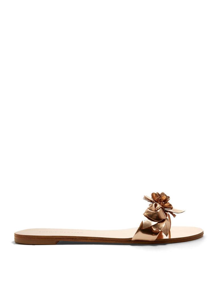 Lilico floral-embellished leather slides