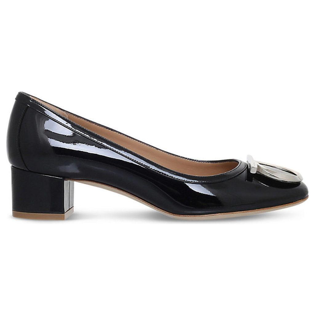 Ena patent-leather courts, Women's, Size: EUR 40.5 / 7.5 UK Women, Black