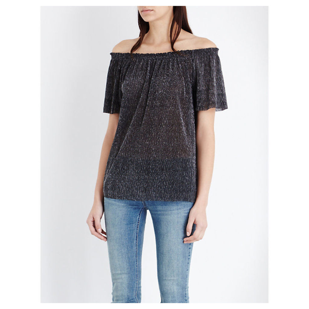 Tresor metallic top, Women's, Size: Small, Argent