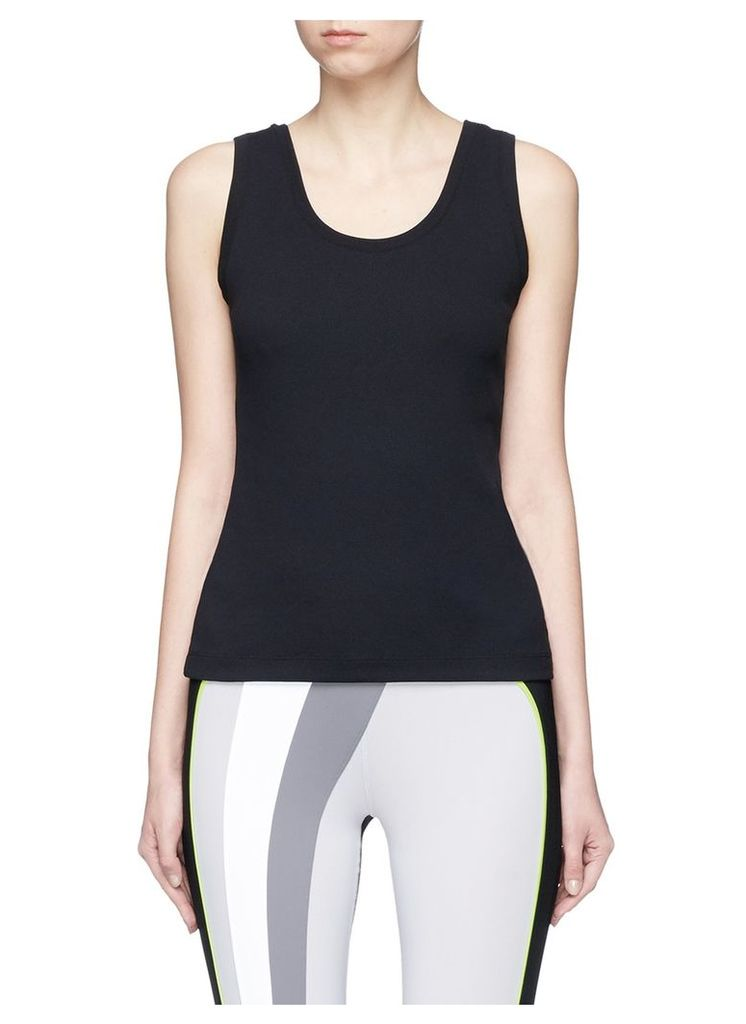 'Lune' waffle knit performance tank top with bra