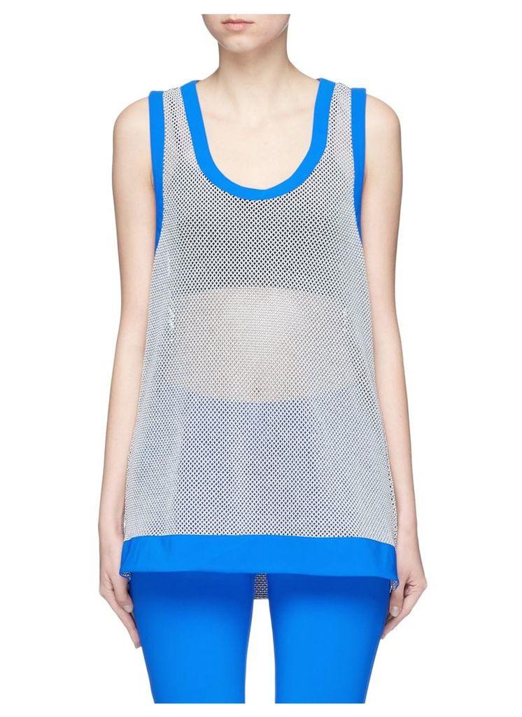 'Mea' 3D mesh knit racerback performance tank top