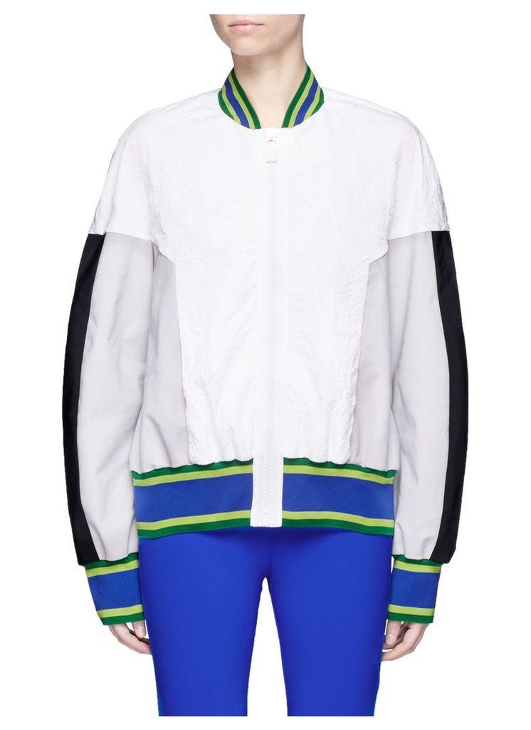 'U'I' colourblock performance bomber jacket