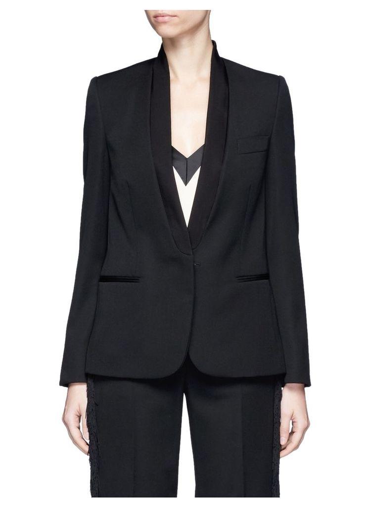 Faille lapel wool tuxedo jacket