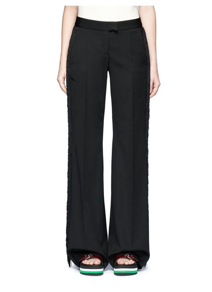 'Electra' fringed wool tuxedo pants