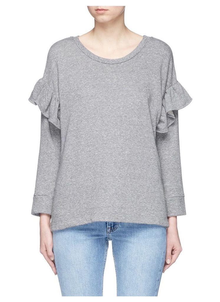 'The Ruffle' French terry sweatshirt