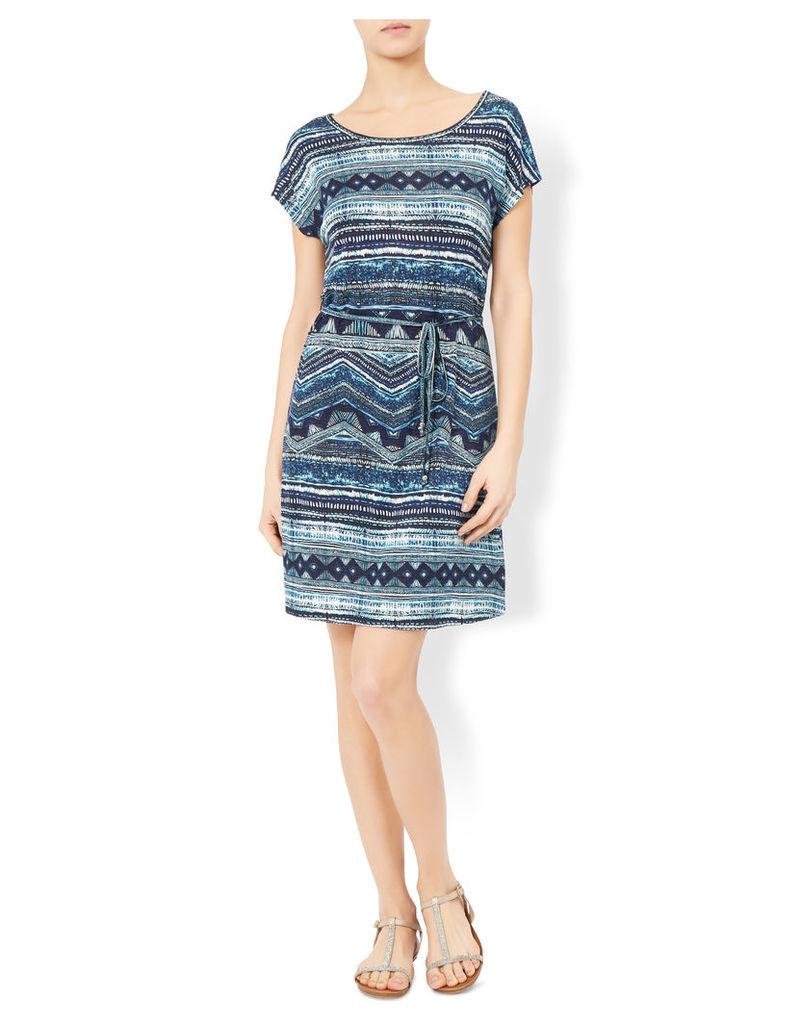 Karolina Print Tie T Shirt Dress