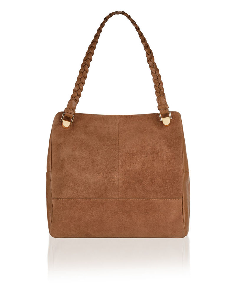 Faye Suede And Leather Mini Hobo Bag