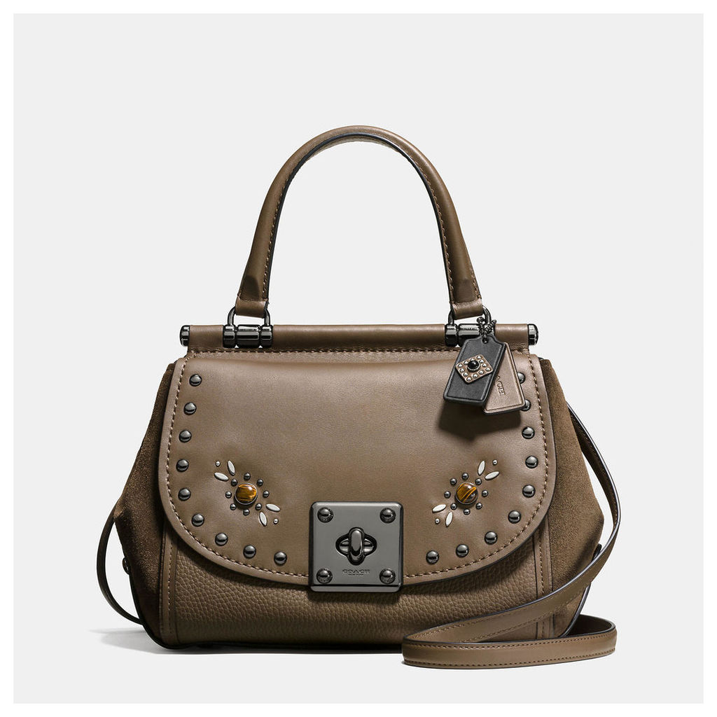 Coach Western Rivets Drifter Top Handle In Glovetanned Leather