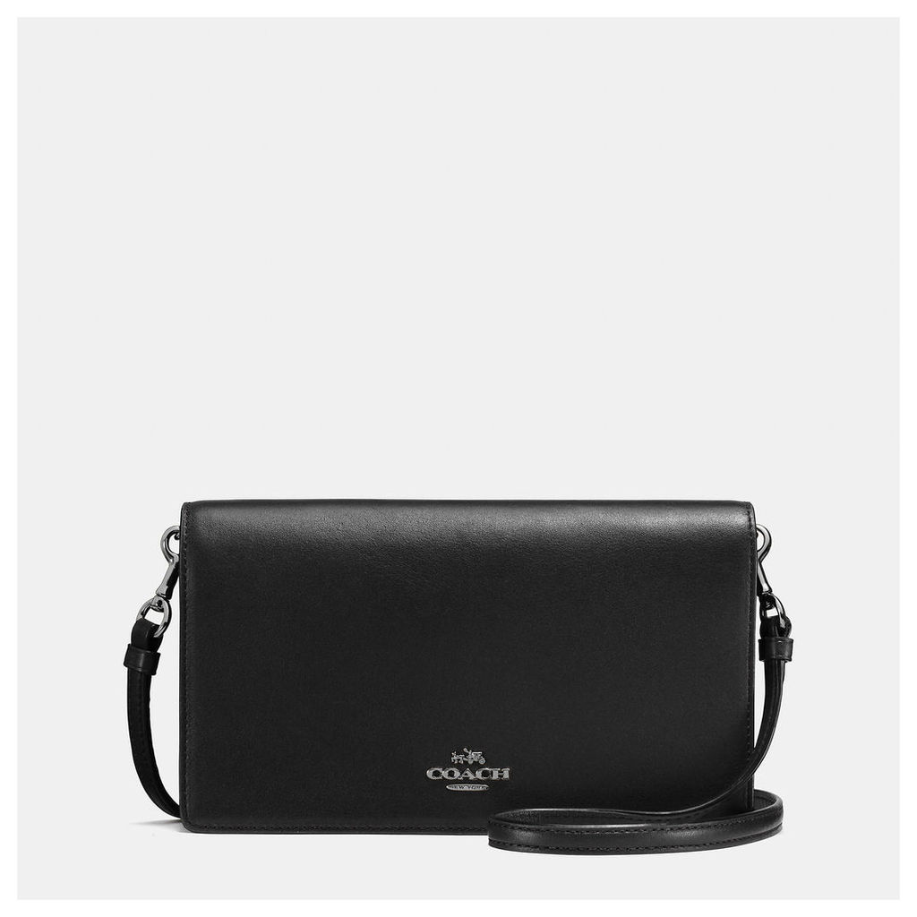 Coach Foldover Crossbody In Glovetanned Leather