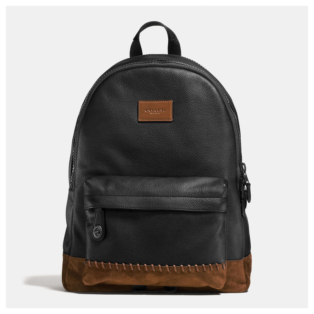 Coach Rip And Repair Campus Backpack In Polished Pebble Leather