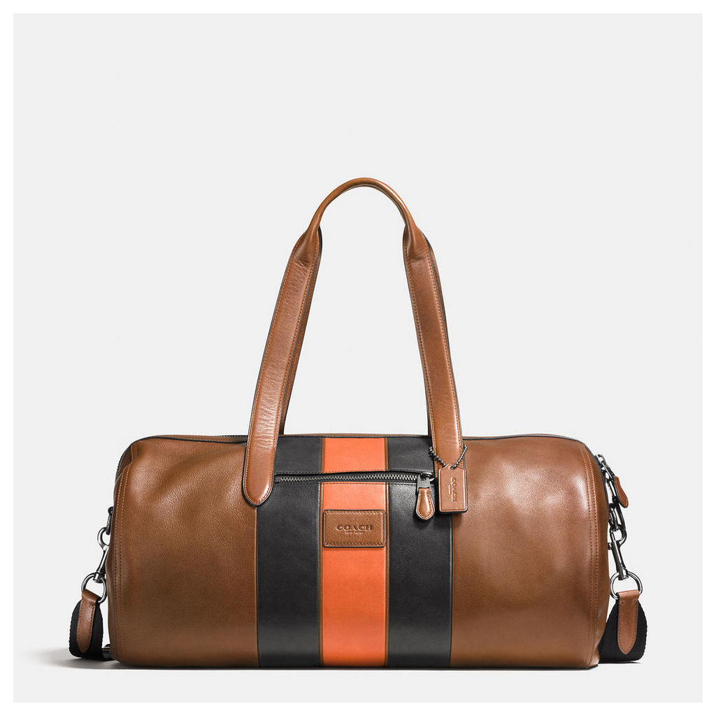 Coach Varsity Stripe Metropolitan Soft Gym Bag In Sport Calf Leather