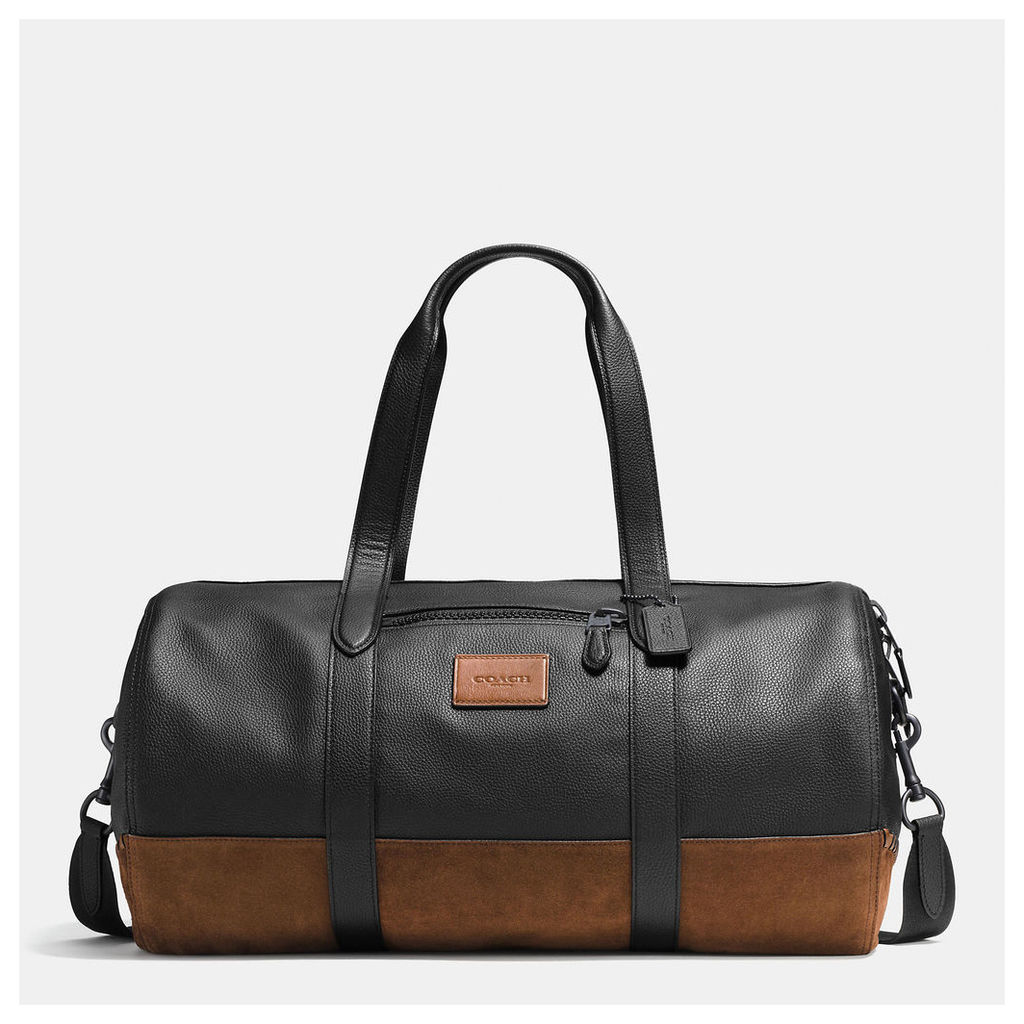 Coach Rip And Repair Metropolitan Soft Gym Bag In Polished Pebble Leather