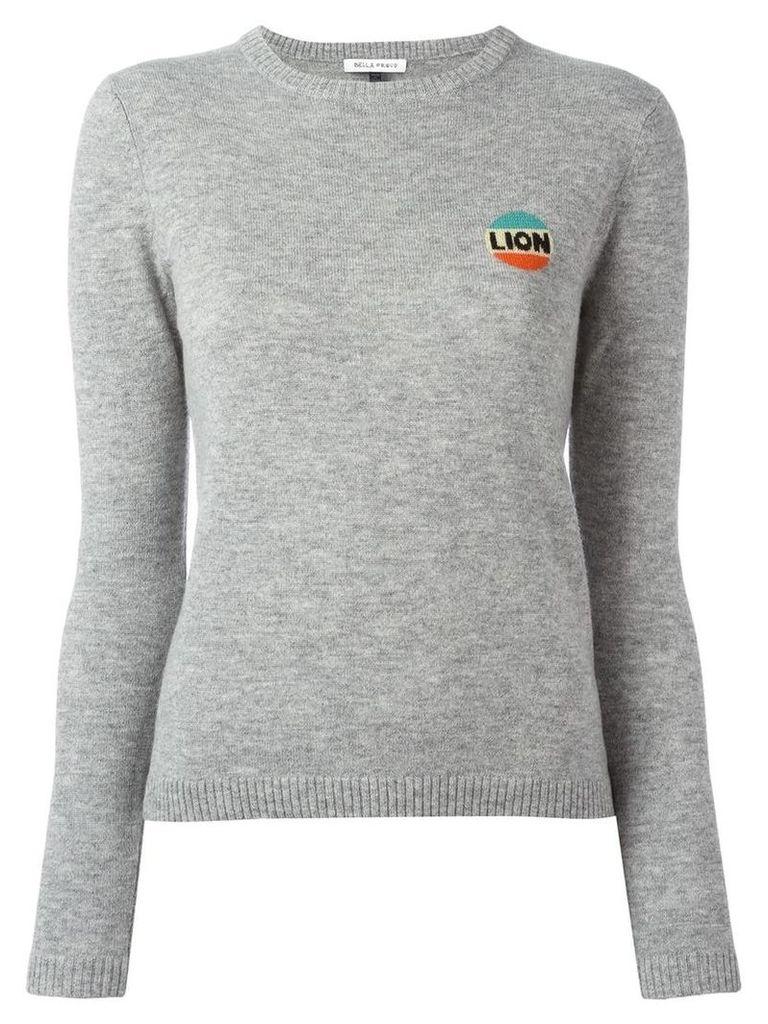 Bella Freud lion emblem jumper, Women's, Size: XS, Grey
