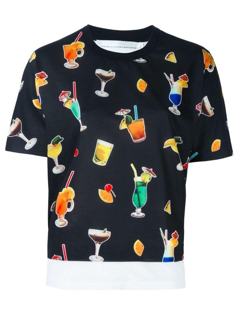 Victoria Victoria Beckham 'Cocktail' T-shirt, Women's, Size: XS, White