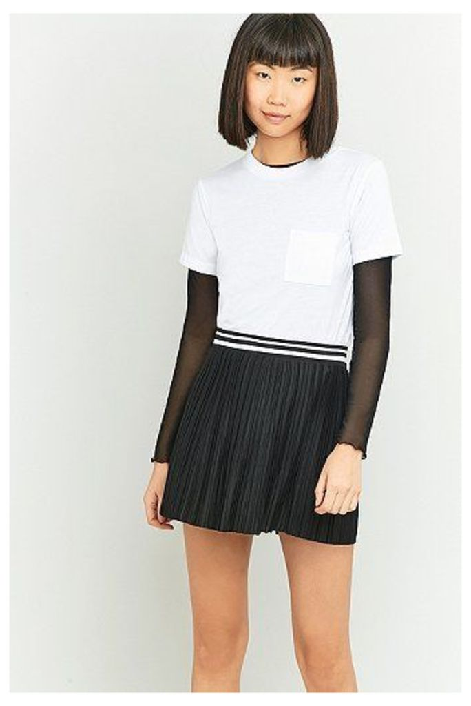 Urban Outfitters Sporty Pleated Super Mini Skirt, Black