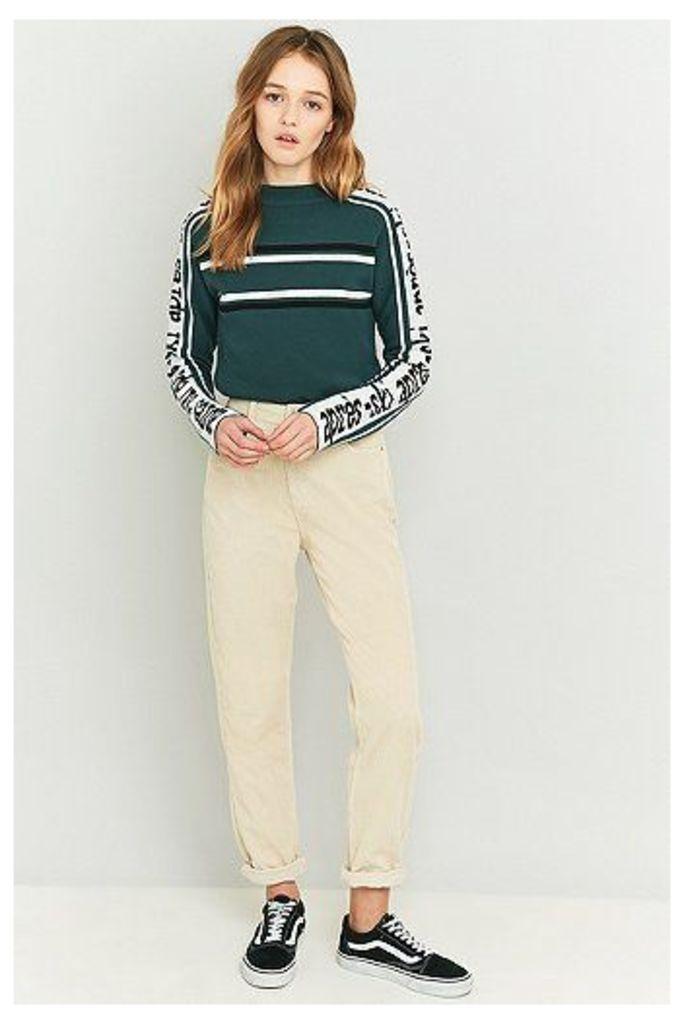 BDG Oatmeal Corduroy Mom Jeans, Cream