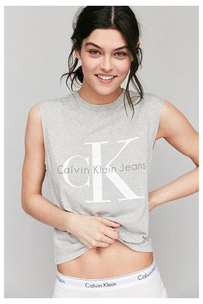 Calvin Klein For UO Grey Muscle T-shirt, Grey