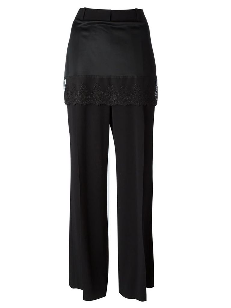 Givenchy lace trim skirt trousers, Women's, Size: 38, Black