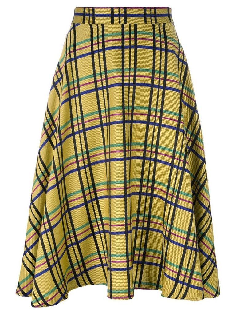 Ultràchic checked skirt, Women's, Size: 44, Yellow/Orange