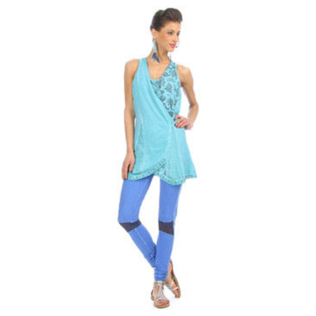 Angels Never Die  Tunic LEIGH  women's Tunic dress in Blue