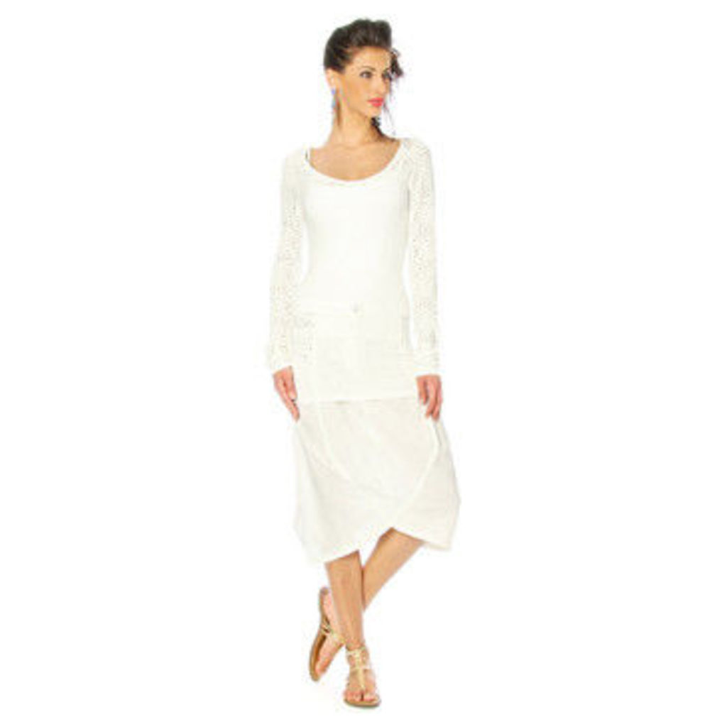 Angels Never Die  Tunic MIA  women's Tunic dress in White