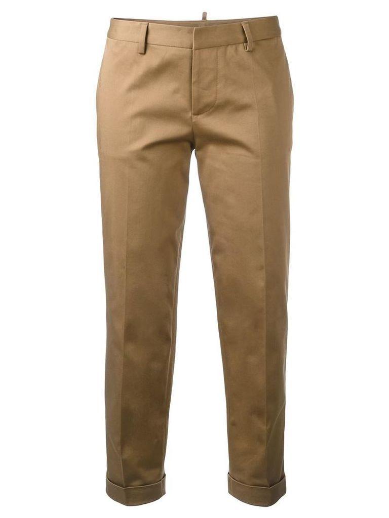 Dsquared2 slim capri trousers, Women's, Size: 42, Brown