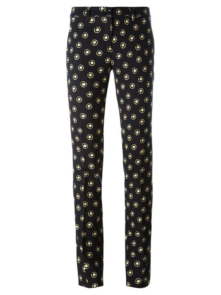 Etro printed slim-fit trousers, Women's, Size: 42, Black