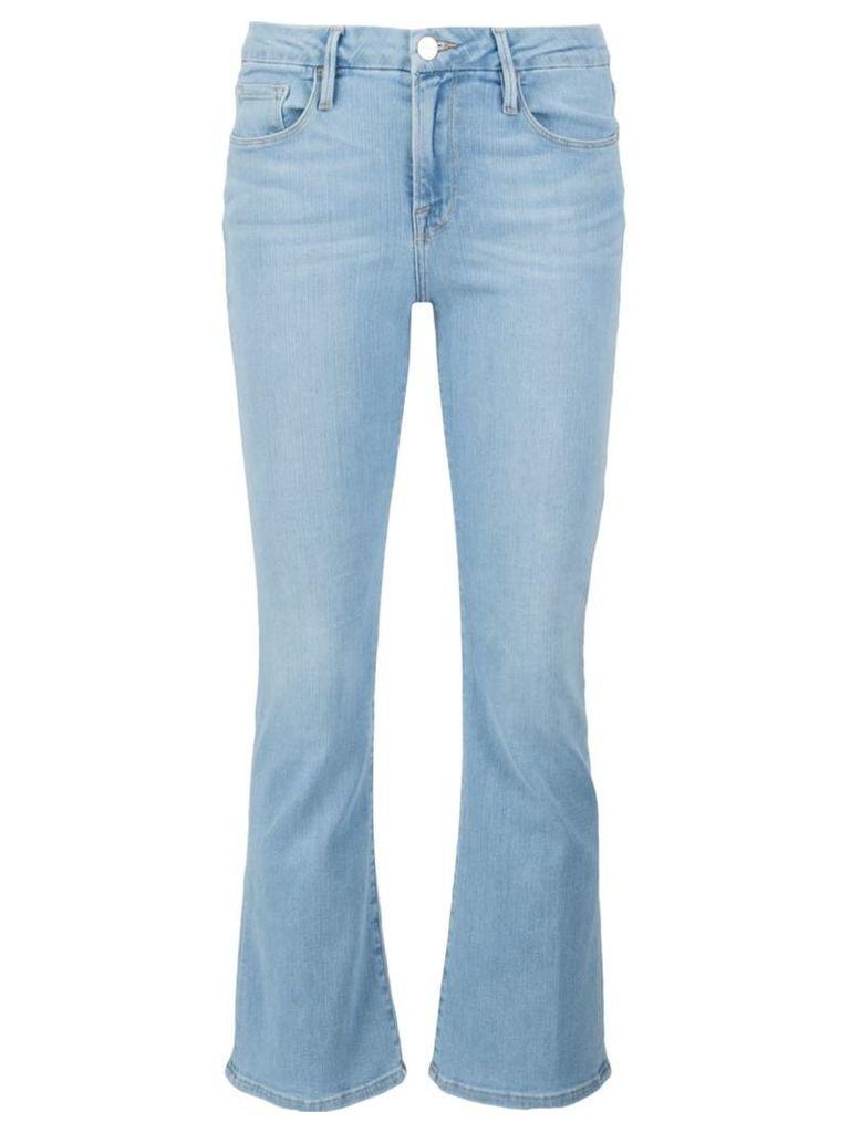 Frame Denim 'Le Crop Mini Boot' jeans, Women's, Size: 27, Blue