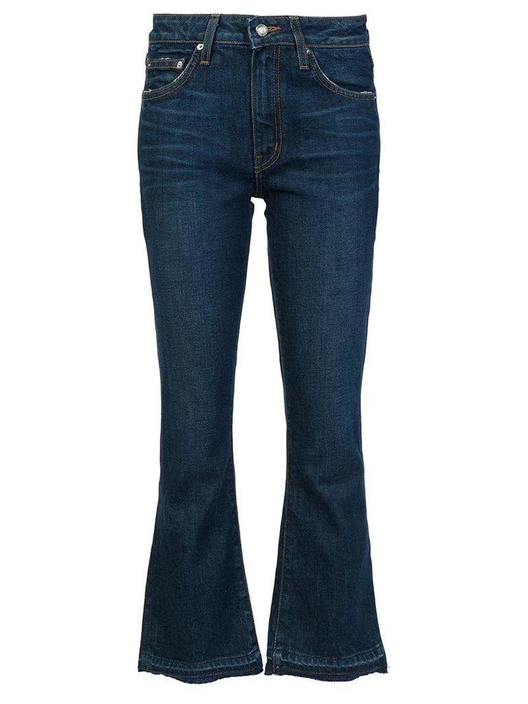 Derek Lam 10 Crosby flared cropped jeans, Women's, Size: 28, Blue