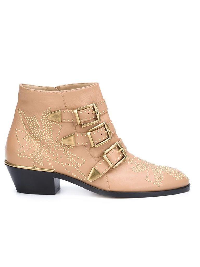 Chloé 'Susanna' ankle boots, Women's, Size: 38.5, Nude/Neutrals