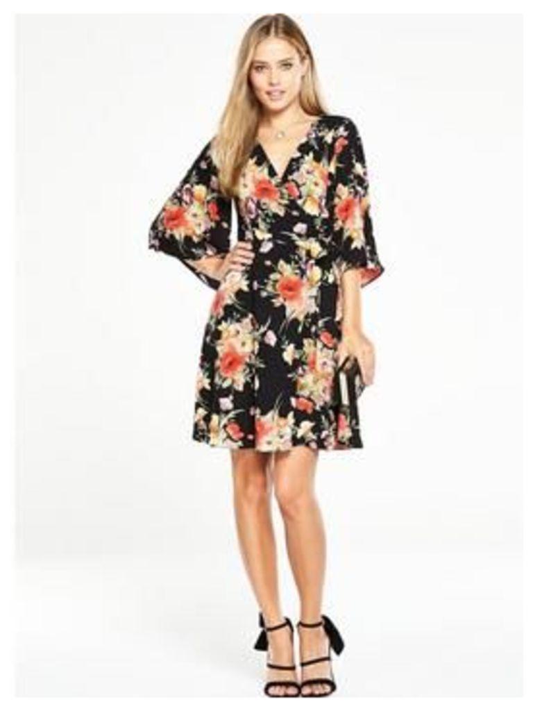 V By Very Printed Wrap Dress