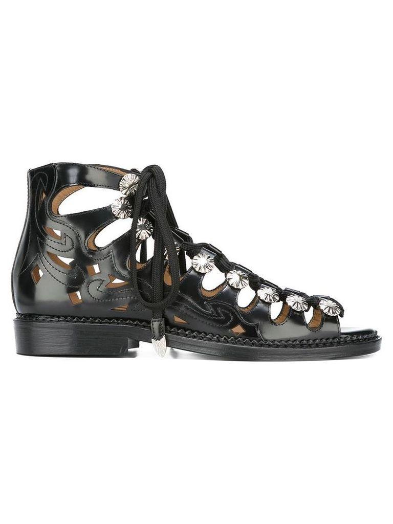 Toga 'Polido Cutout' sandals, Women's, Size: 40, Black
