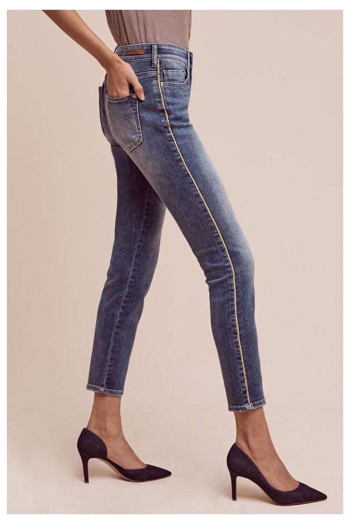 Pilcro High-Rise Tuxedo Stripe Jeans