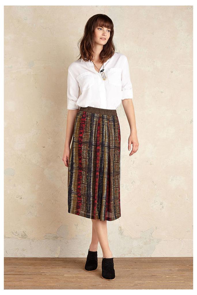 Vivica Stripe Midi Skirt, Green