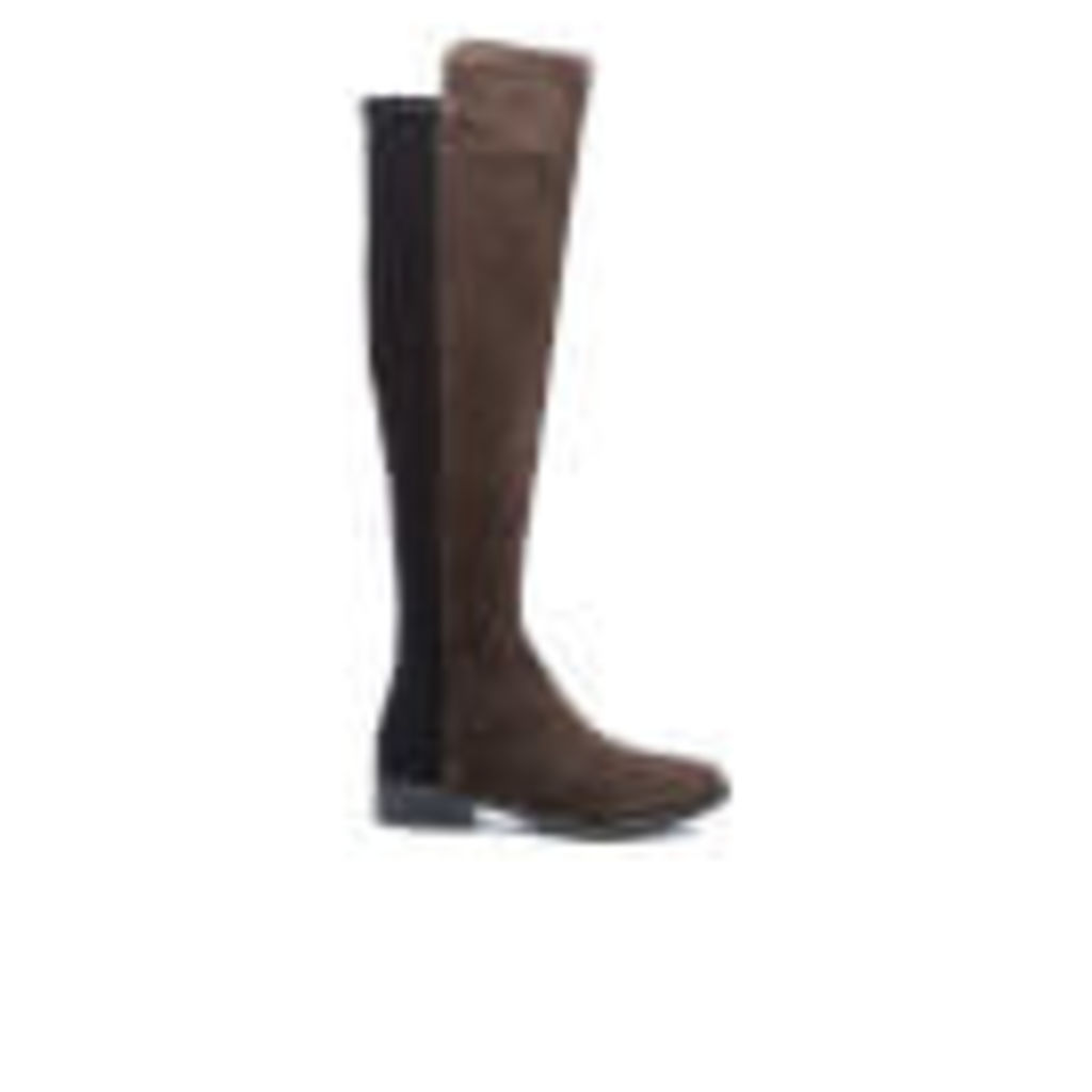 Clarks Women's Caddy Belle Suede Thigh High Boots - Grey - UK 6