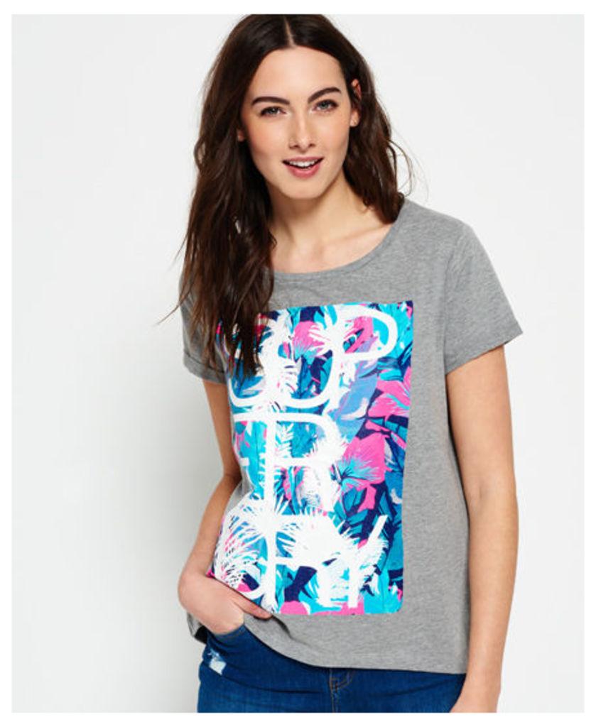 Superdry Overlap Hibiscus Boyfriend T-shirt