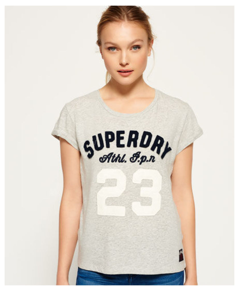 Superdry Varsity Applique Roll Cuff T-shirt